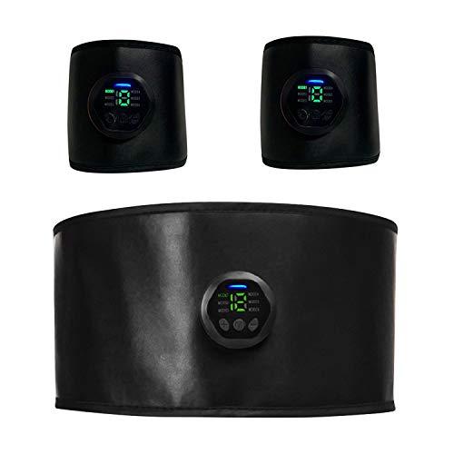 Vococal - Elettrostimolatore, Elettrostimolatore per Addominali, Stimolatore Addominali, Tecnologia EMS, per Addominali/Braccio/Glutei/Coscia, con Cavo USB, Non c'è Bisogno di Usare Il Gel