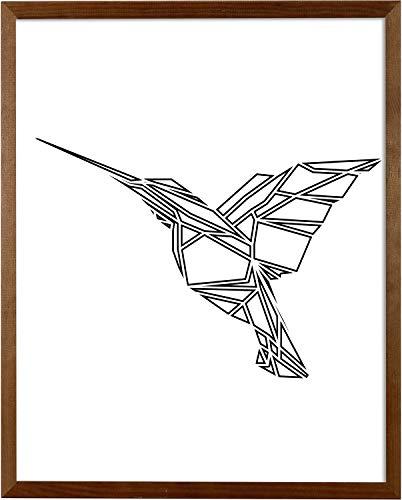 postergaleria Bilderrahmen | 50x70 | Braun | Holz | Plexiglas | 8 Farben | 5 Größen | Posterrahmen | Fotorahmen