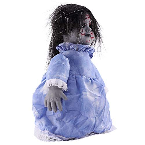 ibasenice Halloween Spaventoso Bambole Suono E A Piedi Spaventoso Puntelli Bambola con Occhi Ardenti di Halloween Decorazione di Interni per La Casa Stregata/Bar/Orrore del