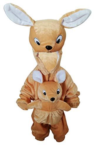 Seruna Känguru-Kostüm, F29 Gr. 116-122, für Kinder, Känguru-Kostüme Kängurus für Fasching Karneval, Klein-Kinder Karnevalskostüme, Kinder-Faschingskostüme, Häschen-Kostüm als Geburtstags-Geschenk