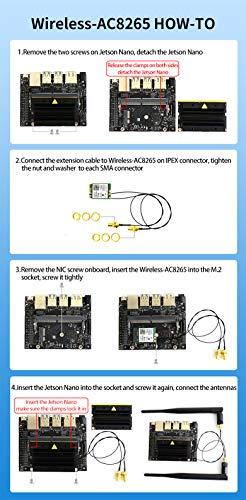 Waveshare AC8265 Wireless NIC Applicable for Jetson Nano 2.4G / 5G WiFi Bluetooth 4.2 Dual Mode Module