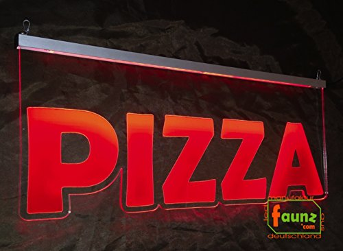 'LED cartello pubblicitario, faunz Insegna luminosa, pittogramma'Pizza NEU faunz com