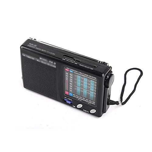 Bdesign Radio inalámbrica, Antena telescópica portátil Am/FM Mini 9-Banda, Receptor de Manos Libres, tamaño pequeño, bajo Ruido y fácil de Llevar