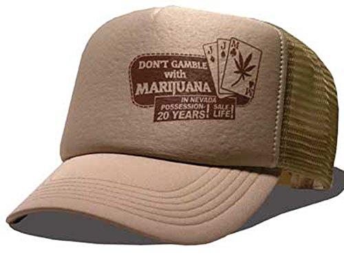 Bastart Caps Raphia type Don't Gamble. Casquette en maille Las Vegas