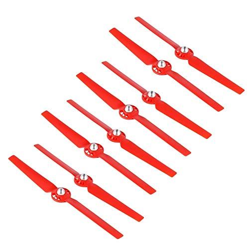 HONGYI Elica 8pcs eliche for Yuneec Typhoon Q500 Drone Q500M 4K Autobloccante Quick Release Lama CW CCW Sostituzione Puntelli di Ricambio di Ricambio Accessori Drone (Color : Red)