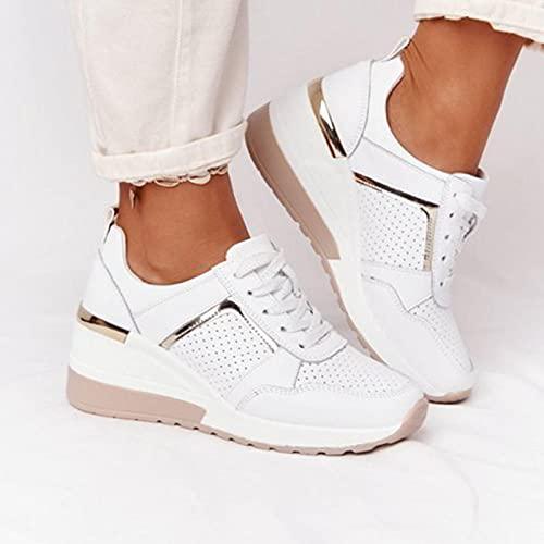 Chaussures de marche pour femmes Every-Go Plateforme Talon compensé Chaussures de tennis en maille respirante