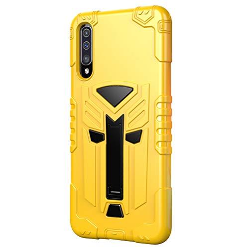 niter - Funda para Samsung Galaxy A50S (con función atril) Beige amarillo