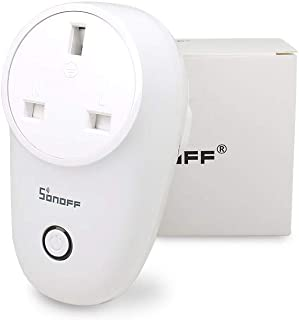 SONOFF S26 UK Switch Socket 10A 220V AC Light Wifi Wireless Remote Control Power Smart Outlet Wall Plug Timer Google Home ...