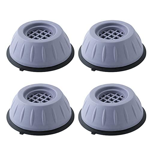4Pcs Patins Anti Vibration Lave Linge Tapis Anti Vibration Machine a Laver Caoutchouc Antidérapant Pied à Suppression des Chocs et du Bruit, Antidérapant pour Lave-Linge Réfrigérateur, Surélevé 3,5 cm