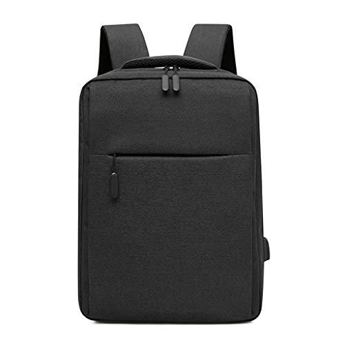 KKCD Travel 15.6 Inch Laptop Rugzak, Professionele Zakelijke Rugzak Met USB Opladen Port, Slim Lichtgewicht Laptop Tas, Waterbestendige School Rugzak Voor Vrouwen Mannen, Zwart