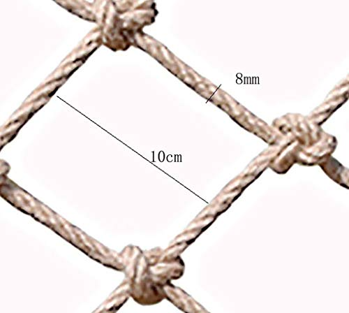 Climbing Cargo Net For Kids Ninja Net Climbing Swingset Polyester Rope Ladder For Jungle Gyms Playground Ribbon Net Obstacle Course Training Climbing Net For Outdoor Treehouse(8mm*(Size:2*6m(7*20ft))