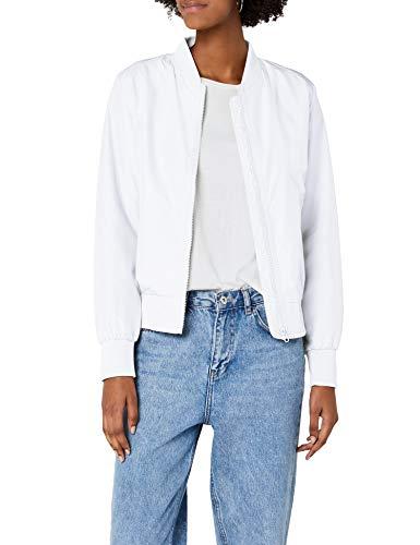 Urban Classics TB1217 Damen Jacke Ladies Light Bomber Jacket, Weiß (White 220), 40 (Herstellergröße: L)