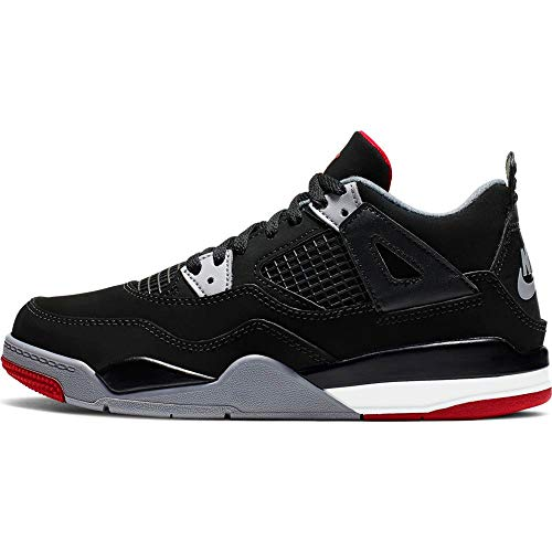 Nike Jordan 4 Retro BRED (PS) Black/Fire Red-Cement Grey 12.5C/30 EU