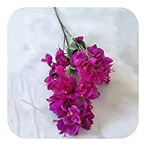 MEIshop Artificial Bougainvillea Christmas Birthday Party Bottle Flower Wedding Home Photography Decorationsimulation-Plum-