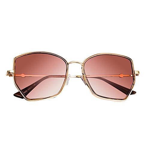 feeling dreamer 2019 Sonnenbrille für Damen, Sommer, Sonnenbrille, polarisiert, goldfarben
