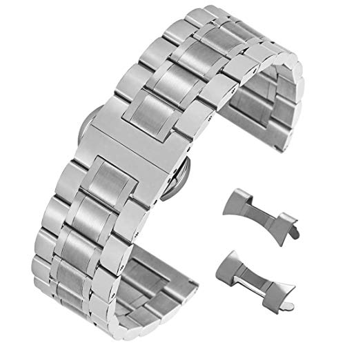 AUTULET Herren Edelstahl Armband Silber- 23mm