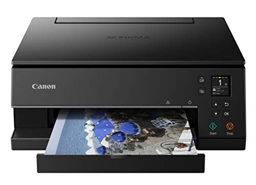 Canon Pixma TS6320 Wireless All-In-One Photo Printer with Copier, Scanner and Mobile Printing, Black, Amazon Dash Replenishment