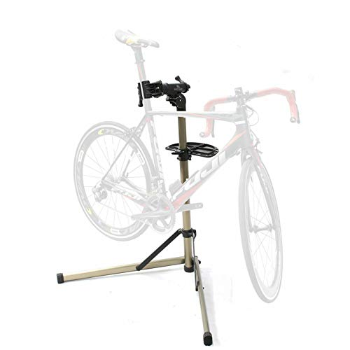 Bikehand Bike Repair Stand (Max 55 lbs) - Home Portable Bicycle Mechanics Workstand - for Mountain Bikes and Road Bikes Maintenance