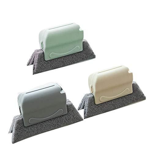 OVBBESS 3 herramientas de limpieza de espacio, cepillos desmontables de limpieza de la pista de la puerta, cepillo de limpieza del acondicionamiento de la puerta deslizante