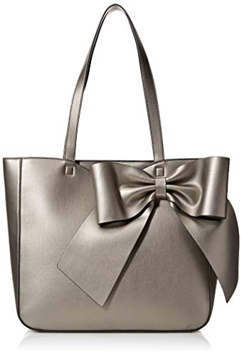 Karl Lagerfeld Paris Canelle Large Bow Tote, Pewter