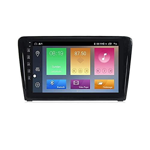 Car Stereo Sat Nav Adecuado para Volkswagen Santana 2013-2017 GPS Stereo Head Unit Capacitive Touch HD Carplay Radio Multimedia Sistema de Radio Incorporado Tracker, 4Core WiFi: 1 + 16G