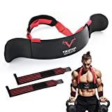 Tikaton Arm Blaster with Wrist Wraps for Biceps & Triceps, Adjustable Bicep Isolator Arm Curl Blaster for Big Arms Bodybuilding & Weightlifting, Thick Aluminum Biceps Workout Equipment