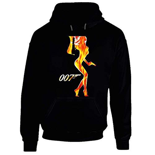 TMTE James Bond 007 UK Agente Film Pierce Brosnan - Camiseta Negra per Hombre, Talla S a 3XL (XL. Nero XXX-Large