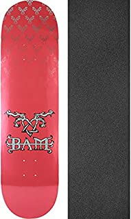 Element Skateboards Bam Margera Heartagram Pink/Silver Skateboard Deck - 8.5