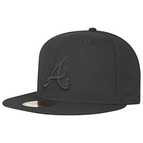 New Era 59Fifty Cap - MLB Black ON Black Atlanta Braves