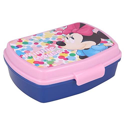 | Minnie Mouse | Sandwichera Para Niños Decorada - Fiambrera Infantil | Caja Para El Almuerzo Y Porta Merienda Para Colegio - Lonchera