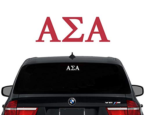 TAMENGI ASA Alpha Sigma Alfa griega Letras Sorority calcomanía para portátil auto