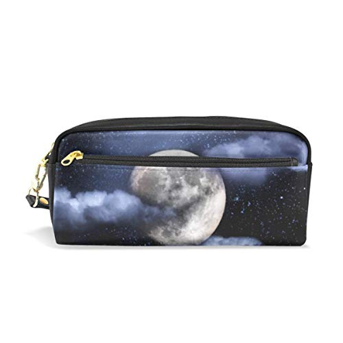 Lawenp Large Capacity Pencil Case and PU Leather Pen Bag Space Bee Zipper Stationery Supplies Pencil Pouch Comestic Makeup Bag for Girls and BoysLarge Capacity Pencil Case and PU Leather Pen Bag Spa