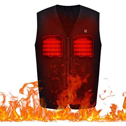 MaijIXIDE Oplaadbare verwarming bodywarmer vest met 3 rijen temperatuurregelbare verwarmde jas voor koude activiteiten buitenshuis, camping, trekking, ski, jacht