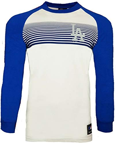 MLB Majestic LA Dodgers Raglan-T-Shirt, langärmelig M weiß