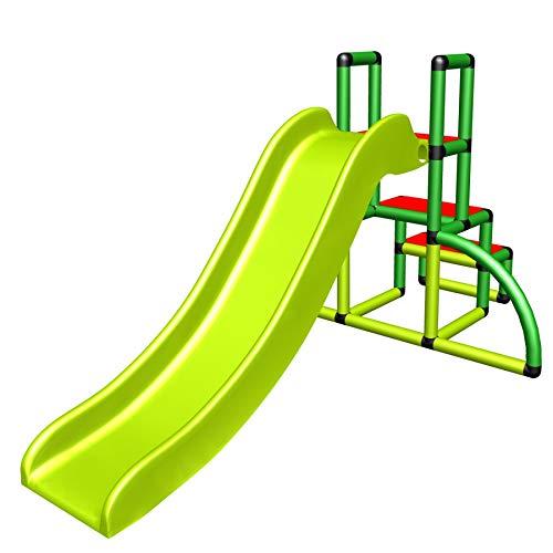 move and stic Kinderrutsche Kinder My First Slide Meine Erste Rutsche Spielzeug Babyrutsche Gartenrutsche Moveandstic (Apfelgruen / Gruen / rot)