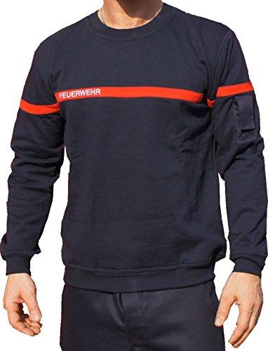 feuer1 Sweat-shirt pompier à rayures rouges M bleu