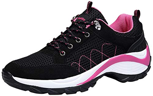 KOUDYEN Atlético Zapatos Chicas Mesh Zapatillas de Deporte Fitness Plataforma para Mujer,XZ006-black-39EU