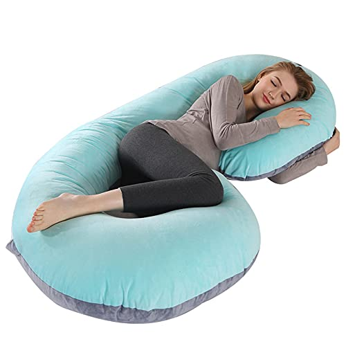 AMZYY Pregnancy Pillow Full Body, Multifunctional C-shaped Pregnancy Pillows Women Comfortable Maternity Body Side Sleepers Cushion for Support Bed Cotton,C