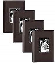 Álbum de fotos de couro sintético desossado DesignOvation, comporta 100 fotos de 5 x 7 ou 200 4 x 6, conjunto de 4, cinza,...