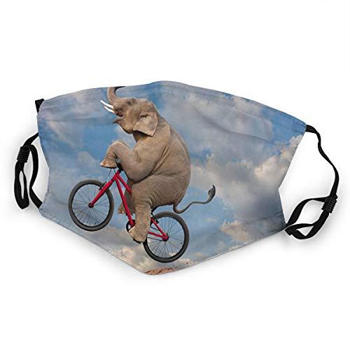 DPQZ Mundschutz für Kinder, Mountainbike, Elefant, Reiten, Fahrrad, verstellbar, Anti-Staub für Jungen und Mädchen, 1 Stück