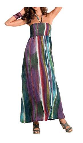 Heine Damen-Kleid Maxikleid Mehrfarbig Größe 38