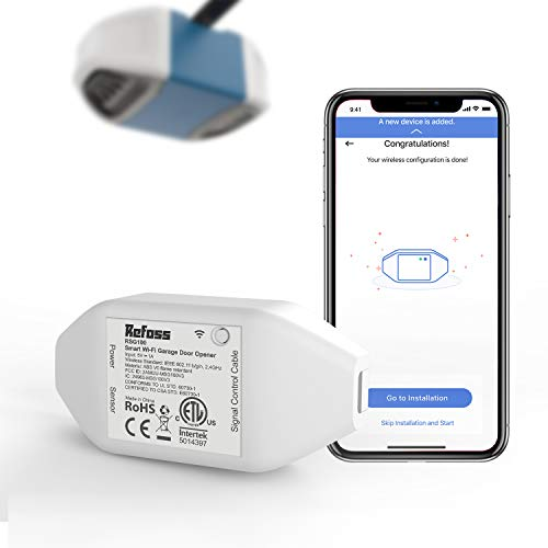 Refoss Smart Wi-Fi Garage Door Opener, APP Control, Compatible with Alexa, Google Assistant, No Hub Needed