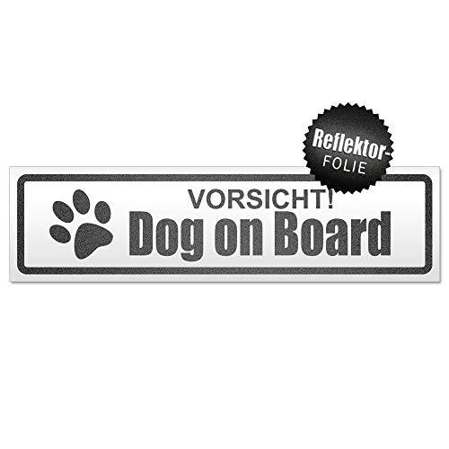 Kiwistar Vorsicht! Dog on Board Magnetschild Schild magnetisch
