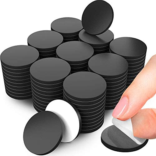 Adhesive Magnets for Crafts 100 PCs Flexible Round Magnets with Adhesive Backing Small Sticky product image