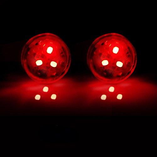 Alivier - Kit de 2 Luces LED de Advertencia para Puerta de Coche (2 Unidades, universales, anticorrosión inalámbrica) Rojo Rosso