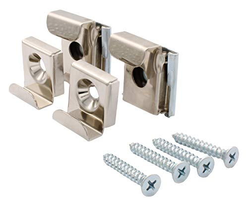 CRL Plastic Lined Mirror Mounting Clips for 1/4'' Glass - S