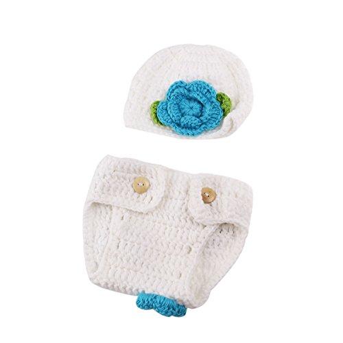 WINOMO bebé bebé recién Nacido Gorro de Crochet Disfraz fotografía de bebé Props Set