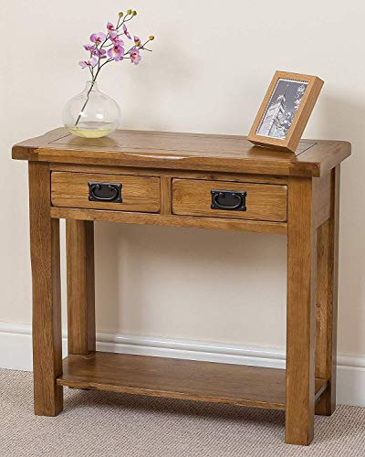 SEESEE.U Solid oak bedside table porch table hall style furniture (85 x 35.5 x 76.5 cm)