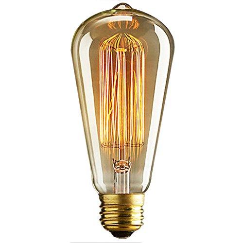 40W E27 Weinlese Glühlampe Schraube Glühlampe Altmodische Edison Art Glasantike Lampe-ST64