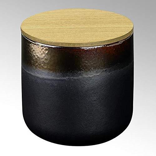 Lambert Edera geurkaars in pot antraciet/oud goud